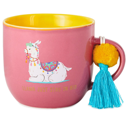 Just Stay in Bed Llama Ceramic Mug