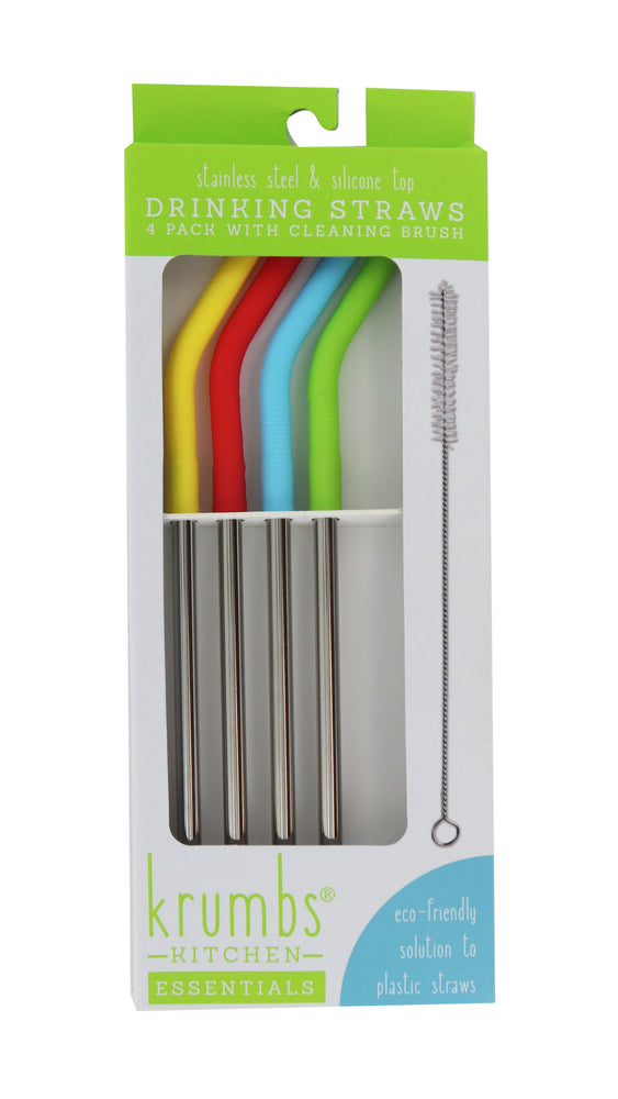 Krumbs Silicon and Stainless Drinking Straws