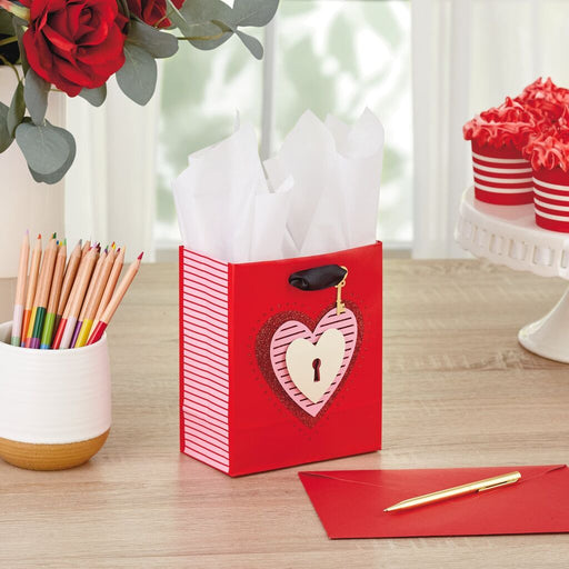 "6.5"" Key to My Heart Valentine's Day Gift Bag"