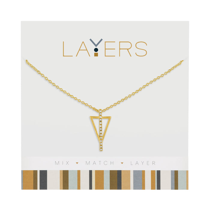 Triangle Layers Necklace in Gold