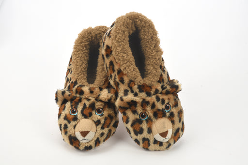 Furry Critter Leopard Snoozies! Slippers