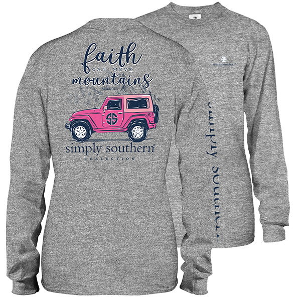 Faith Can Move Mountains in Heather Grey