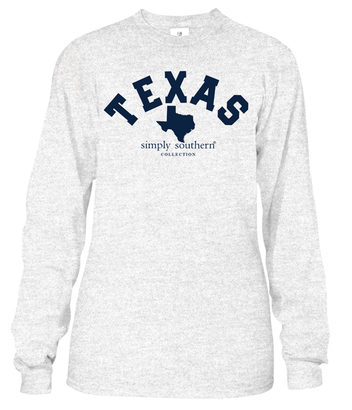 Simply Southern Long Sleeve State Shirt - Texas