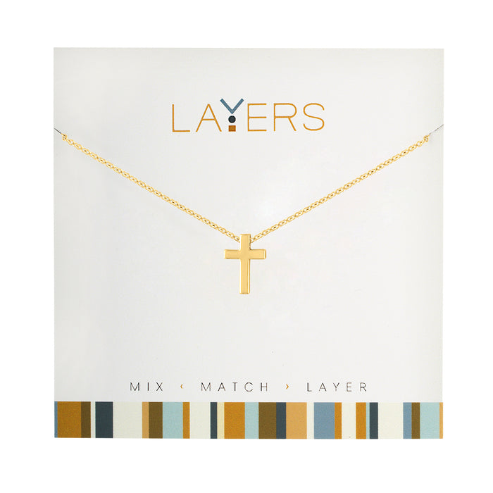 Cross Necklace in Gold
