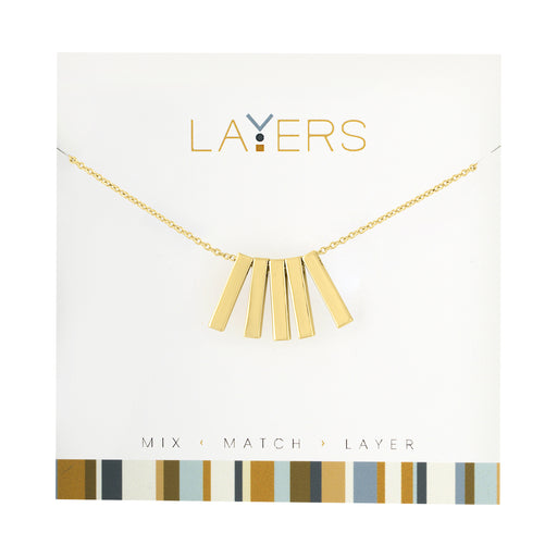 Five Bar Necklace in Gold