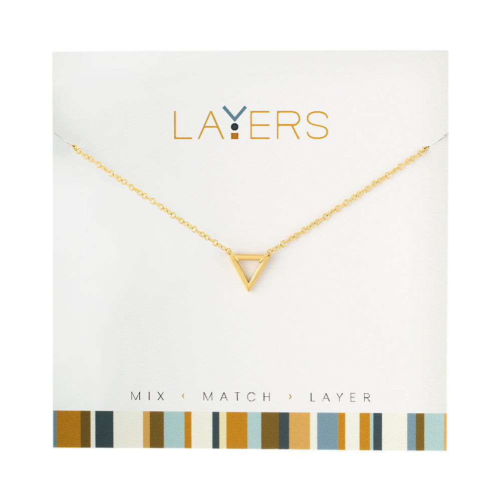 Triangle Necklace in Gold
