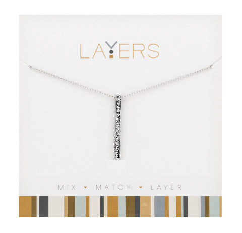 Single Bar Necklace in Silver