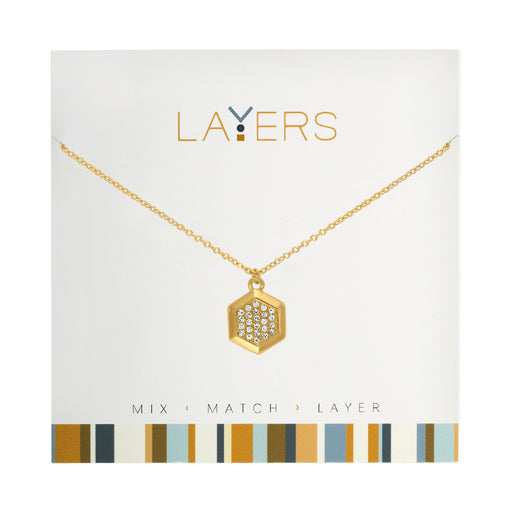 Hexagon Necklace in Gold