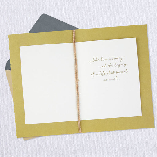 Legacy of a Life Watercolor Blooms Sympathy Card