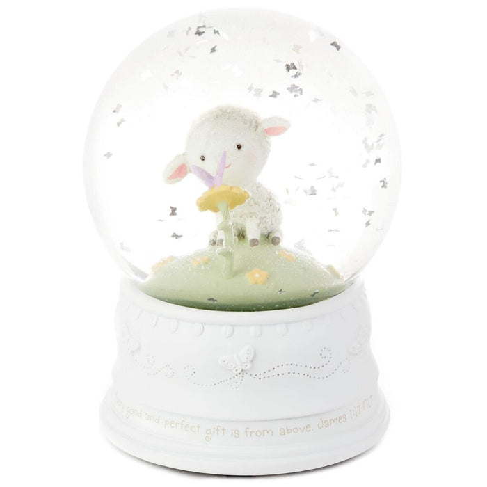 Little Lamb Musical Snow Globe