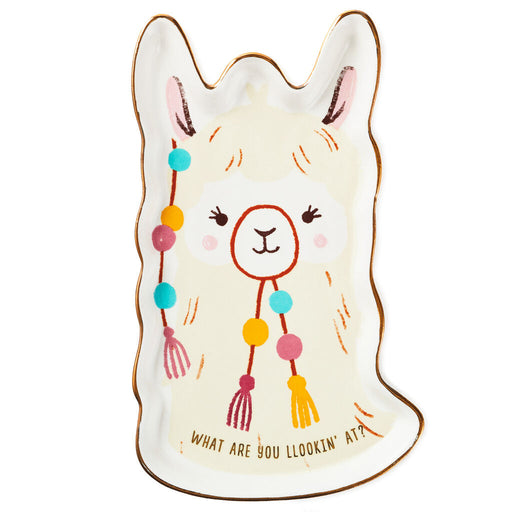 What Are You Llookin' At? Llama Ceramic Trinket Tray
