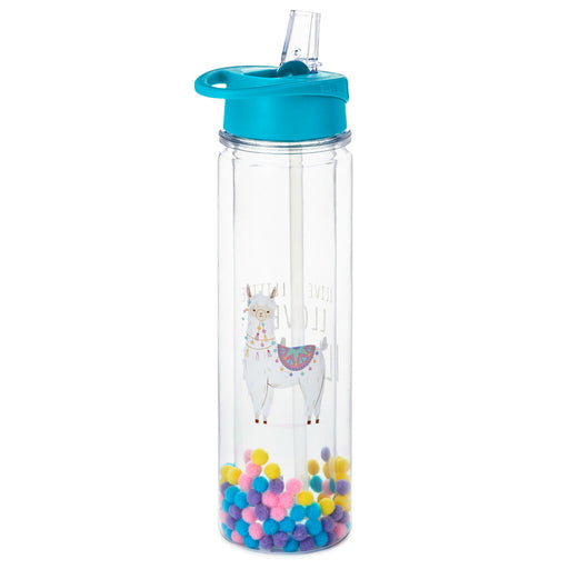 Llive a Little, Llove a Llama Water Bottle
