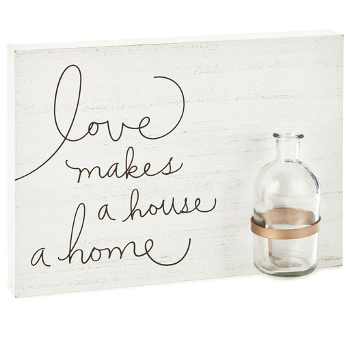 Love Makes a Home Wood Sign