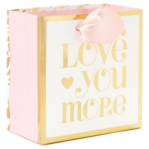 Love You More Small Square Gift Bag, 5.5""
