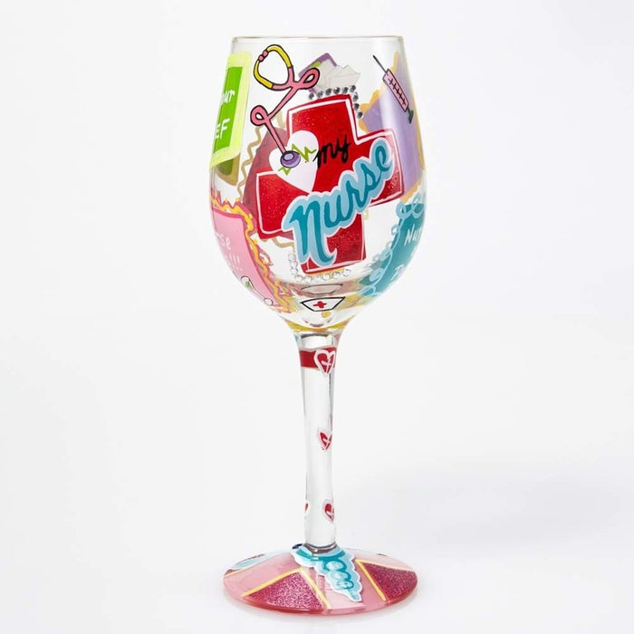 Love My Nurse Lolita Wine Glass