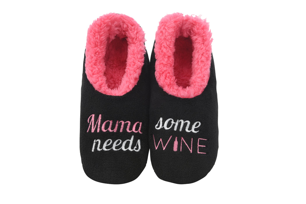 Mama Needs Wine Snoozies! Slippers