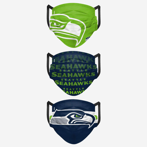 Seattle Seahawks Men's MatchDay 3 Pack Face Mask
