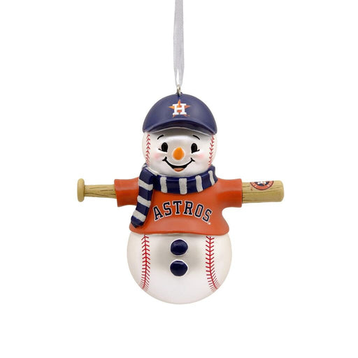 Houston Astros™ Baseball Snowman Ornament