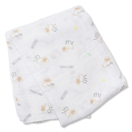 Lulujo Blessings Cotton Swaddle