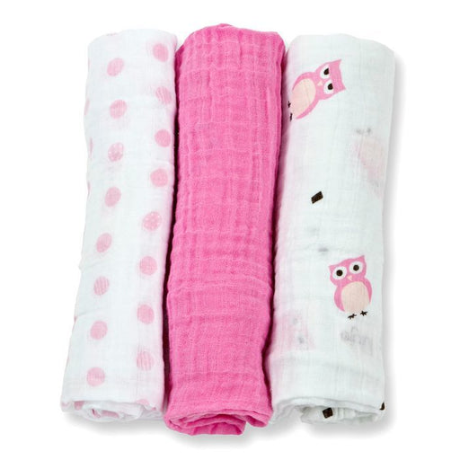 Lulujo Owl Always Love You Mini Cotton Cloths