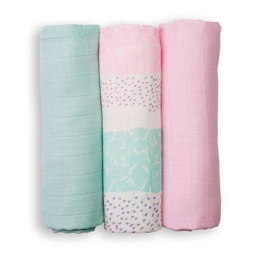Lulujo Pink Spotted Stripe Mini Bamboo Cloths