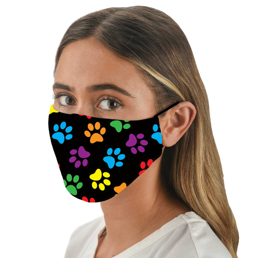 Paw Print Print Face Mask with Filters