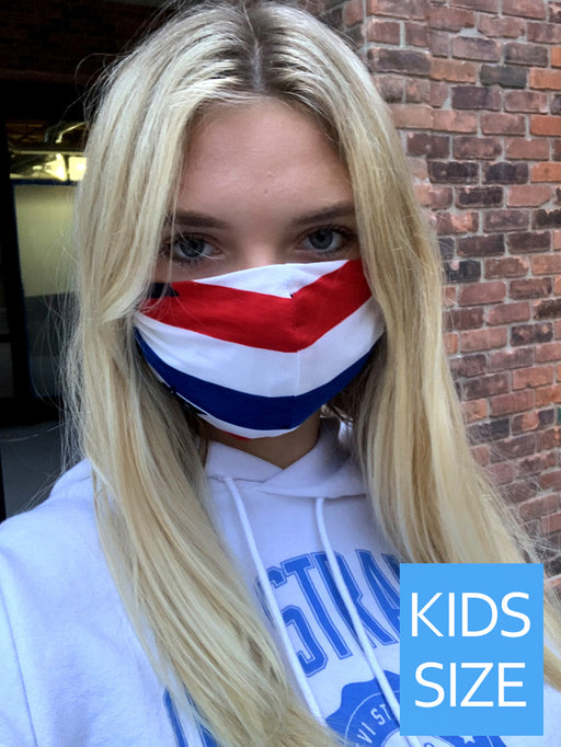 Kids Red White and Blue Face Mask