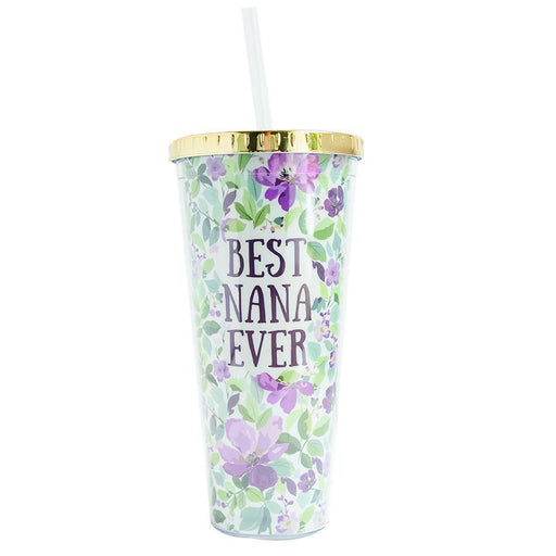Best Nana Ever Tumbler w/ Straw