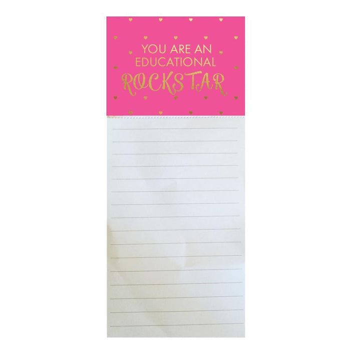 Magnetic Notepad - Educational Rockstar