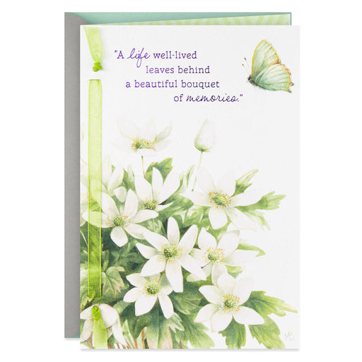 Marjolein Bastin Bouquet of Memories Sympathy Card