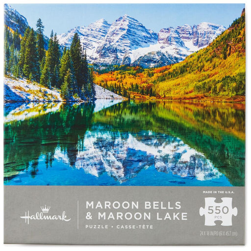 Maroon Bells and Maroon Lake Mountain Scene 550 Piece Puzzle