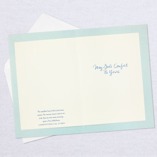 May God's Comfort Be Yours Religious Sympathy Card
