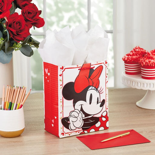 "9.6"" Disney Minnie Mouse Valentine's Day Gift Bag"