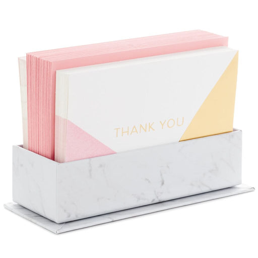 Modern Marble Caddy With Thank-You Notes