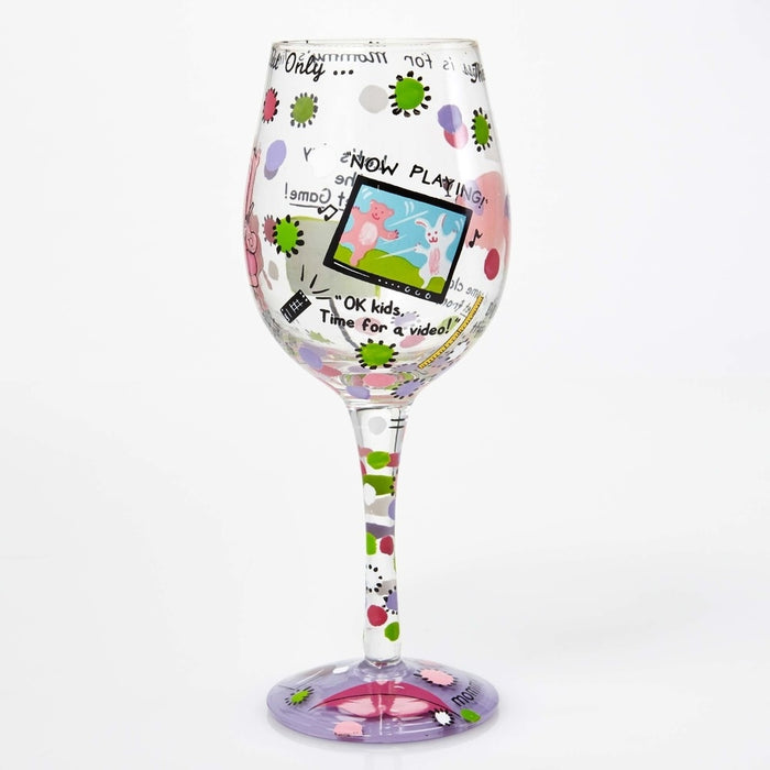 Mommy's Time Out Lolita Wine Glass
