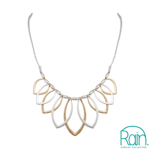 Two Tone Overlapping Ellipses Necklace
