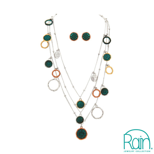 Multi Patina Illusion Necklace Set