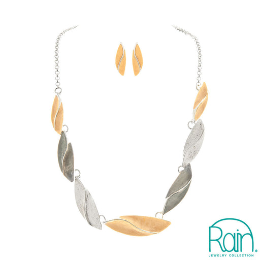 Multi Organic Leaves Necklace Set