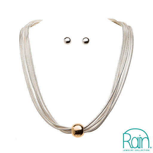 Gold Ball Six Chain Necklace Set