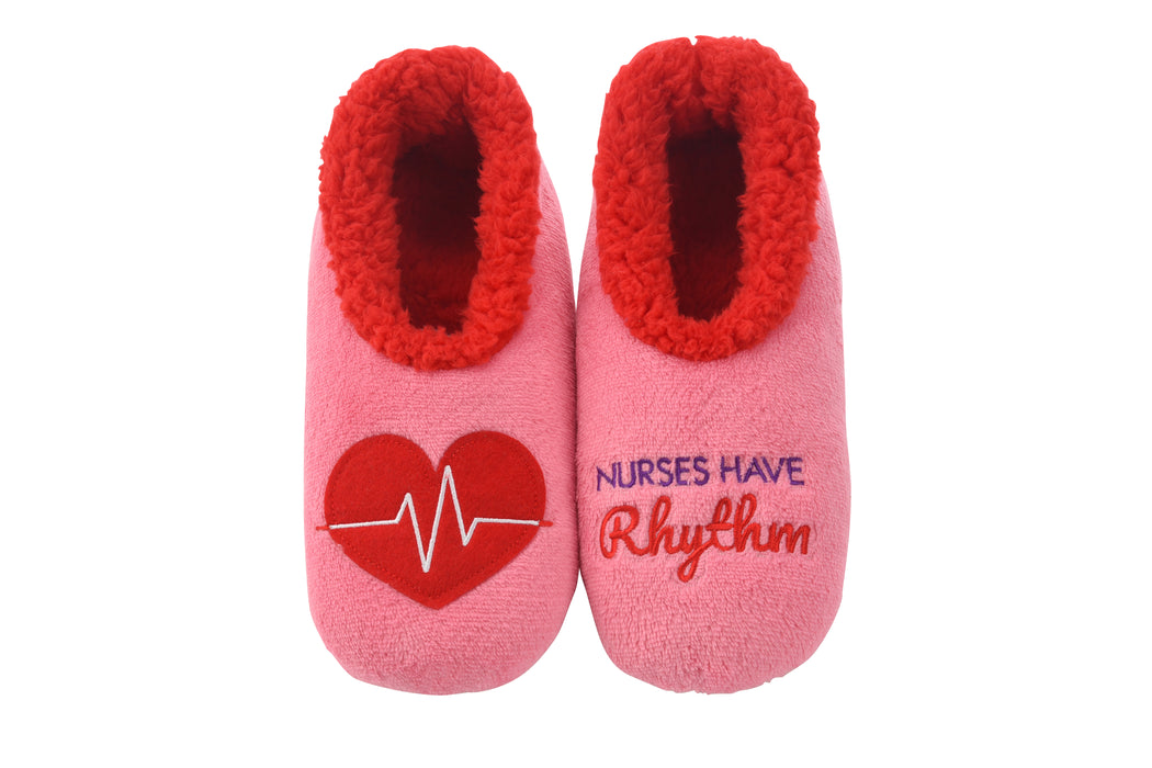 Nurses Have Rhythm Snoozies! Slippers
