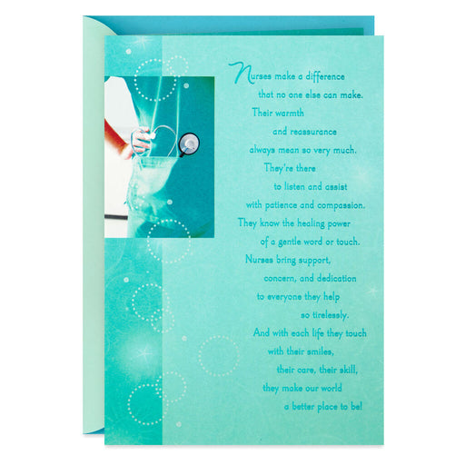 Blue Scrubs Nursing Graduation Card