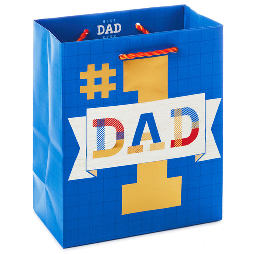 Number 1 Dad Father' Day Gift Bag