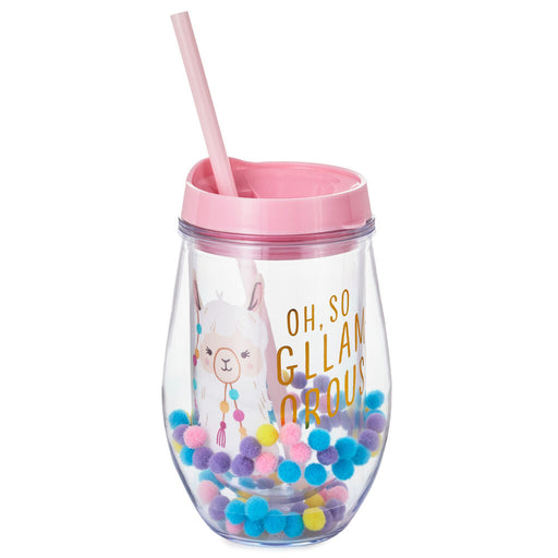 Oh, So Gllamorous Llama Stemless Wine Tumbler
