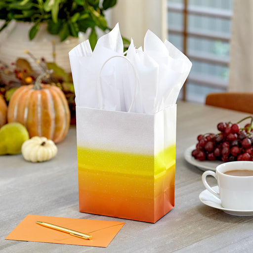 "7.8"" Ombré Candy Corn Halloween Gift Bag"