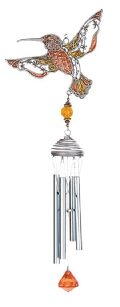 Orange Pewterworks™ Hummingbird Chime