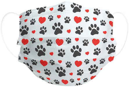 Paws and Hearts Adult Disposable Face Mask 7 Pack