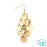 Gold Coin Chandelier Earring