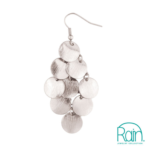 Silver Coin Chandelier Earring