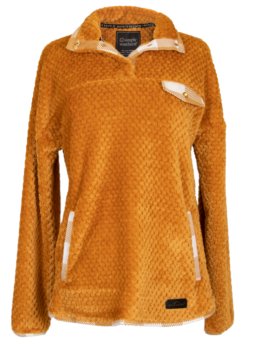 Simply Soft Quarter Snap Pullover in Mustard