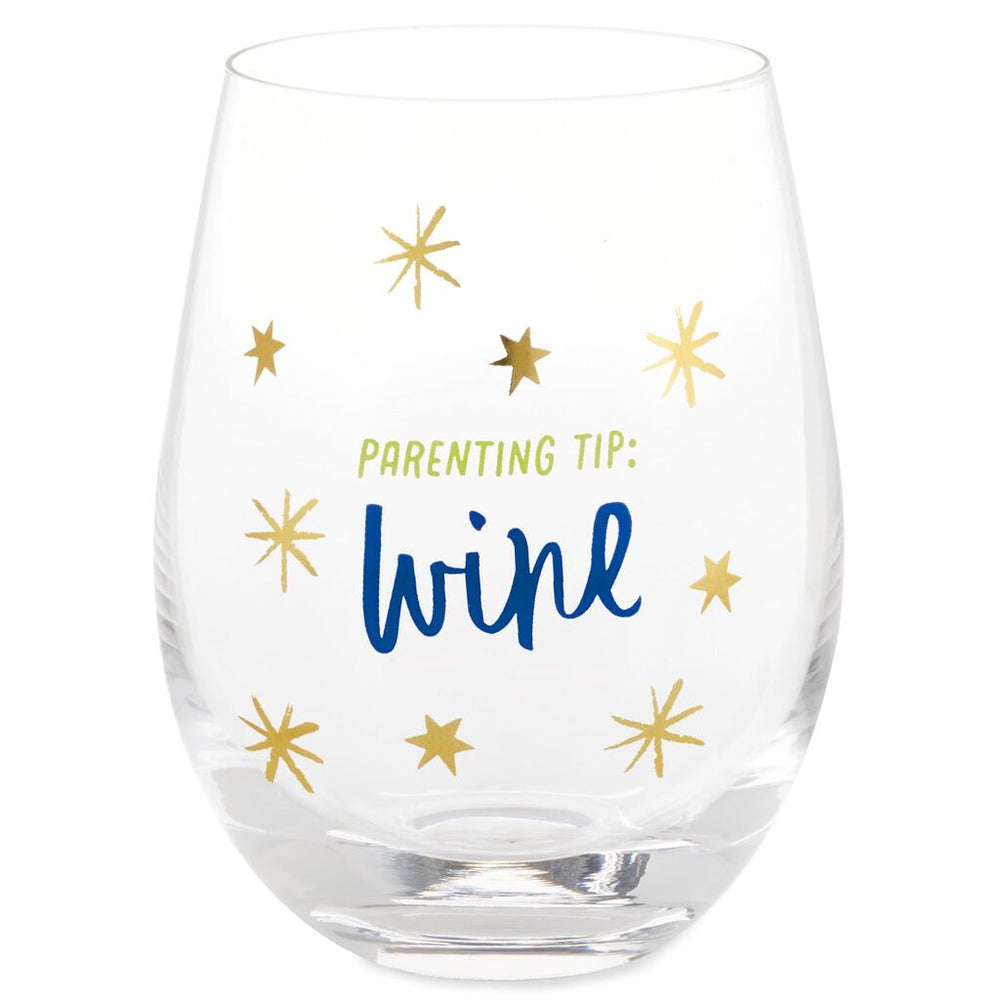 Parenting Tip Stemless Wine Glass